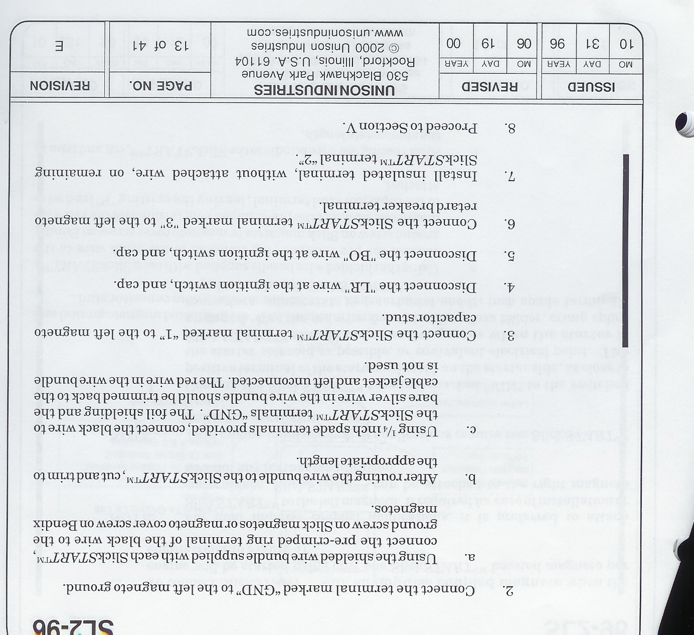 Matronics Email Lists View Topic Wiring Diagram For Slick Start Sl2 96 B2